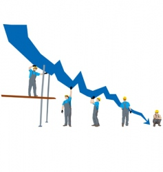 business failure and depression graph vector image vector image