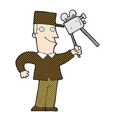 Comic cartoon film maker vector