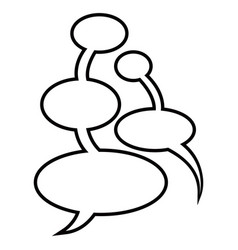 comic chat bubble vector image