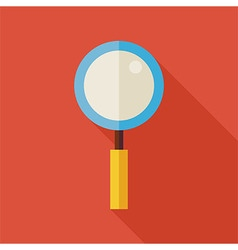 Flat Search Magnifying Glass with long Shadow vector image