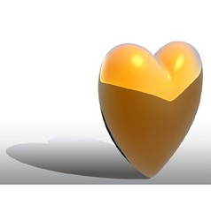 Gold heart vector