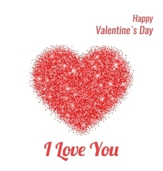 Happy Valentines Day Greeting Card with Red vector image vector image