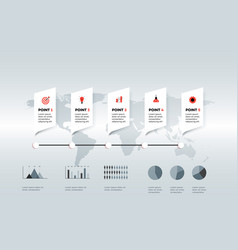 horizontal infographic timeline vector image