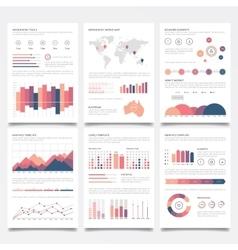 Infographic brochures vector image
