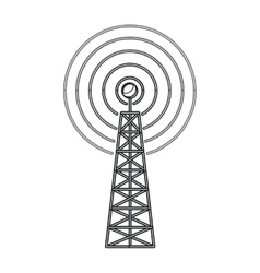 Isolated antenna signal device design vector image vector image