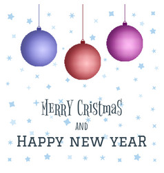 merry christmas and happy new year decoration vector image vector image