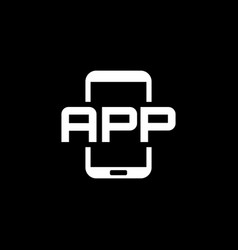 Mobile application icon flat design vector