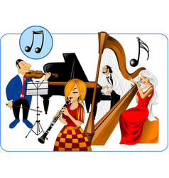 Musical quartet vector