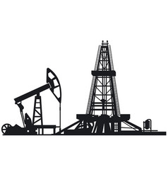 Oil drilling derrick vector
