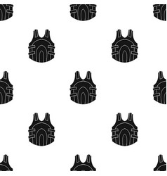 Paintball vest icon in black style isolated on vector