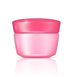 Pink body cream can with lid vector image