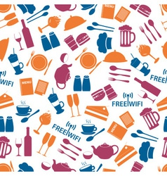 restaurant and pub color seamless pattern eps10 vector image