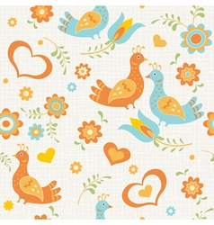 seamless wallpaper birds vector image vector image