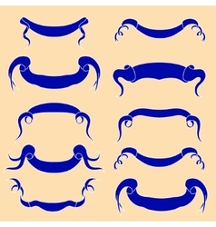 Set of peach Ribbons vector image vector image