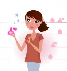 sexy woman in perfume shop vector image vector image