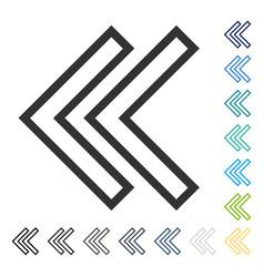 Shift left icon vector