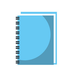 spiral notebook cover leaves equipment vector image