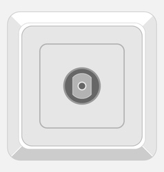 tv socket vector image vector image