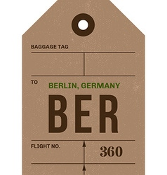 Vintage luggage tag vector