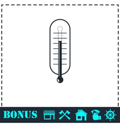 Thermometer icon flat vector