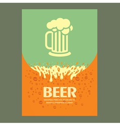 Beer cover card menu splash vector