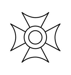 Christian cross emblem icon vector