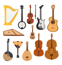 Stringed musical instruments classical orchestra vector