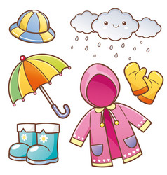 rain clothes vector image
