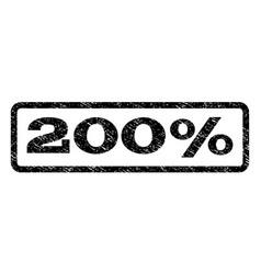 200 percent watermark stamp vector