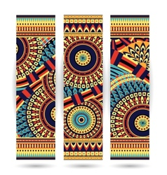 Ethnic pattern cards vector