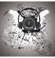 Music poster with audio speaker5 vector