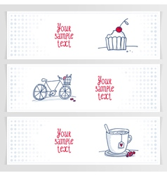 Drink ride bite banners horizont vector