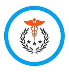 Caduceus logo rounded icon vector