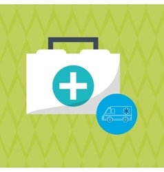 Flat about medical care design vector