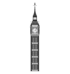 Big ben icon united kingdom design vector