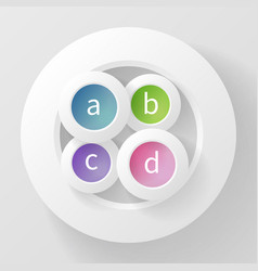 Abstract background of four circles vector
