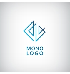 Abstract universal premium logo design creative vector
