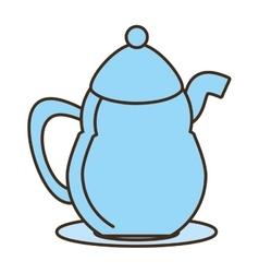 Antique tea pot boiler plate design vector
