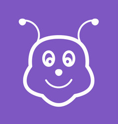 Bee face vector