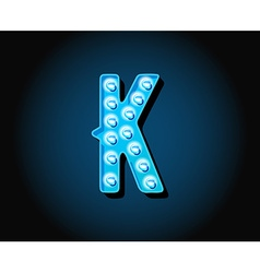 Casino or Broadway Signs style neon light bulb vector image vector image
