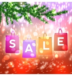 Christmas sale background with Christmas vector image vector image