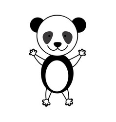 Colorful picture cute panda animal vector