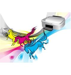 Colors of printer vector