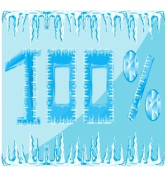 Decorative ice numeral vector image
