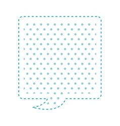 Dotted silhouette rectangle callout for dialogue vector