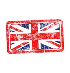England flag red grunge rubber stamp vector