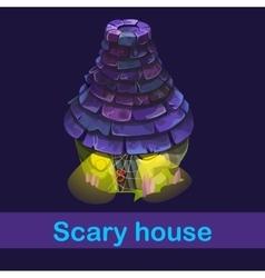 Little fairy house with strange inhabitants vector