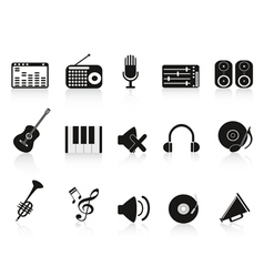 music sound equipment icon vector image vector image