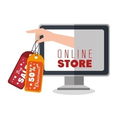 Online store shopping icon vector