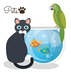 Pet mascot isolated icon vector